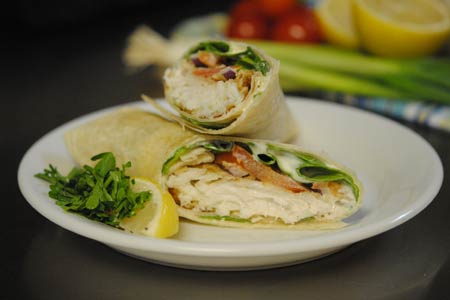 Fried Haddock Wrap
