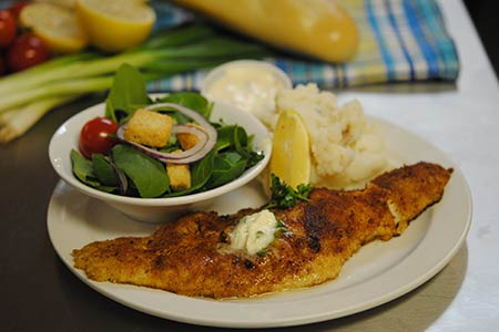 Fried Lemon Buttered Haddock